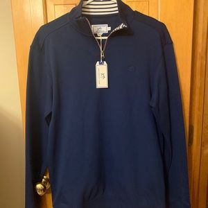 Southern Tide navy 1/4 zip with tags